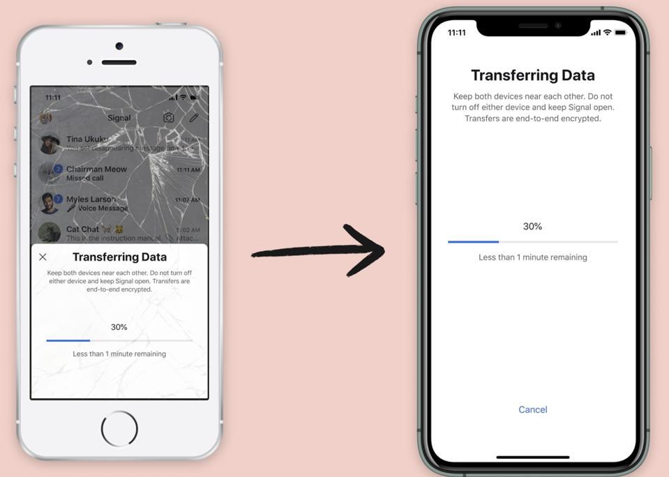iOS transfer.