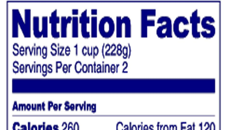 FDA Requires Addition Of Trans fat Information On Food Labels