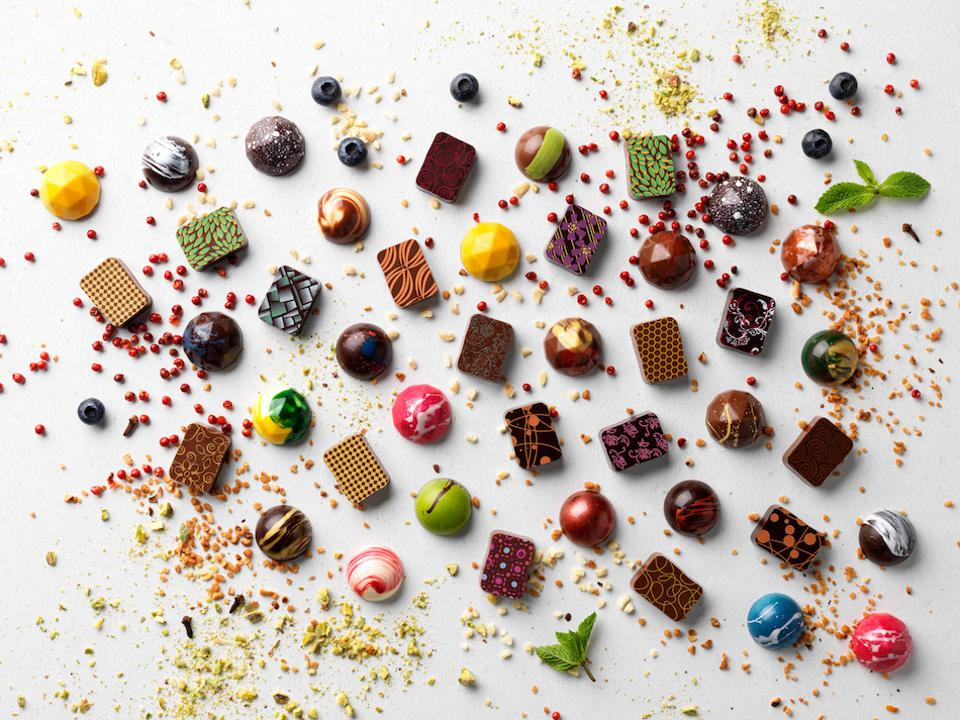 chocolates and truffles and ingredients