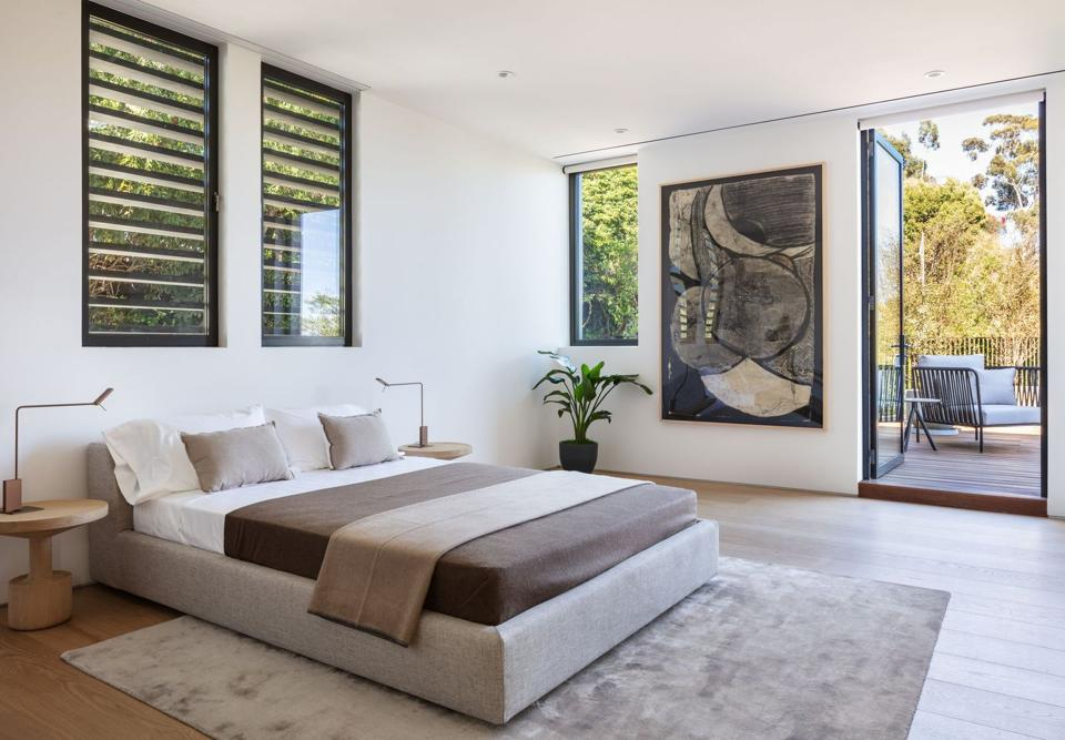 Forest Knoll, Los Angeles, Hollywood Hills, bedroom, terrace