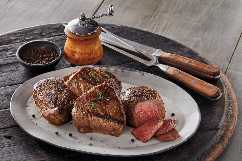 Harry & David Bourbon-Peppercorn Marinated Steaks