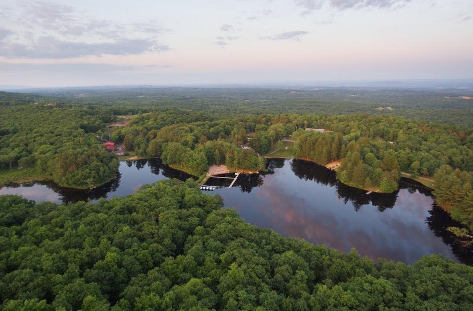Aerial view of Cedar Lakes Estate in Hudson Valley New York
