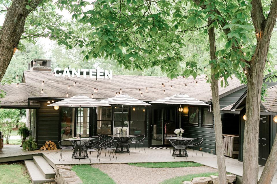 Cedar Lakes Estate Canteen Exterior in Hudson Valley New York
