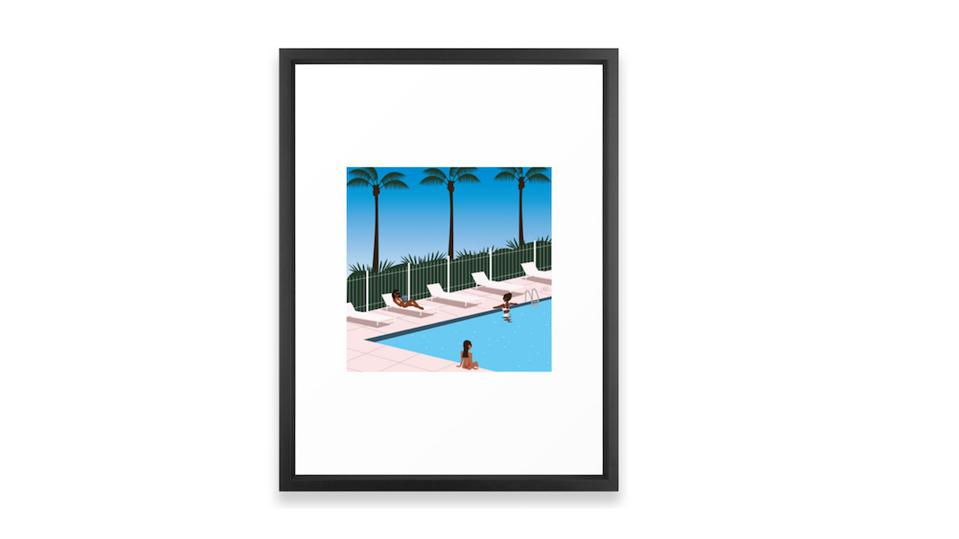 At The Pool Framed Art by CamilleAllen