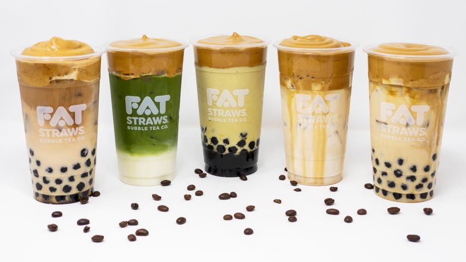 dalgona coffee bubble tea drinks from Fat Straws
