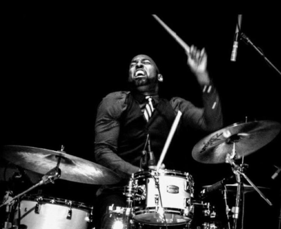 D'Mar on drums
