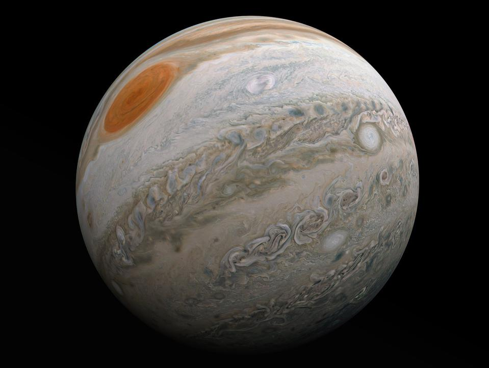 Citizen scientist Kevin Gill's fabulous new photo of Jupiter from Juno's perijove 27.