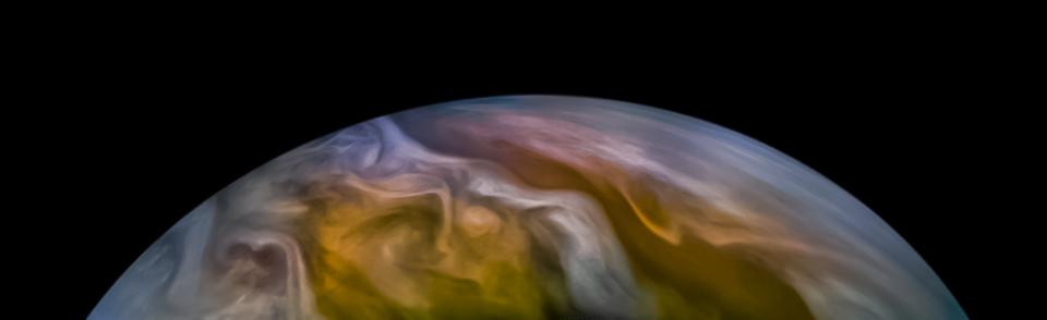 Jupiter's North Equatorial Belt north, as taken by NASA Juno during its recent perijove 27, and processed by citizen scientist Emma Wälimäki.