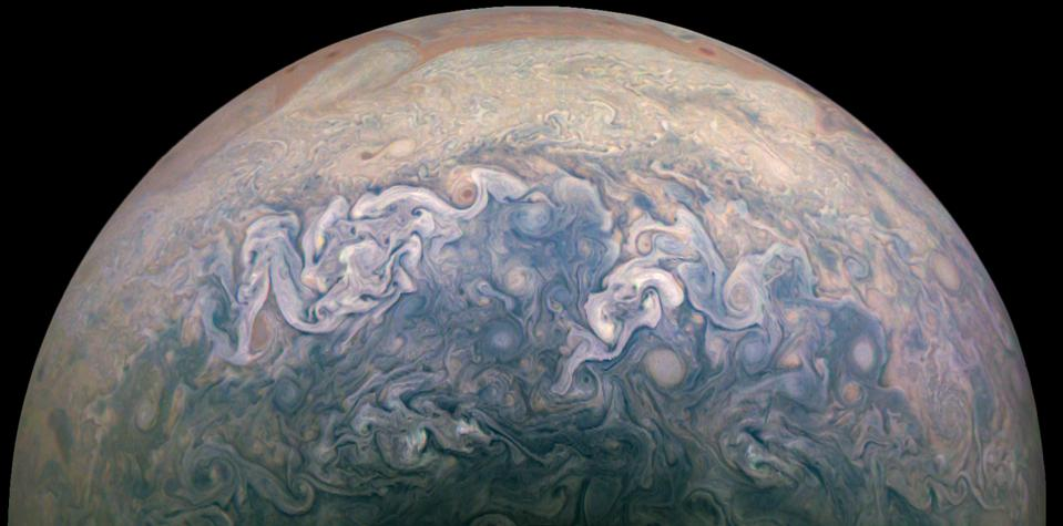 Jupiter's Jet N7, as taken by NASA Juno during its recent perijove 27, and processed by citizen scientist David Marriott.