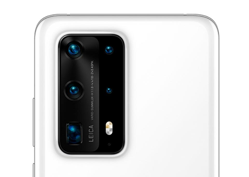 Five rear cameras on the Huawei P40 Pro Plus