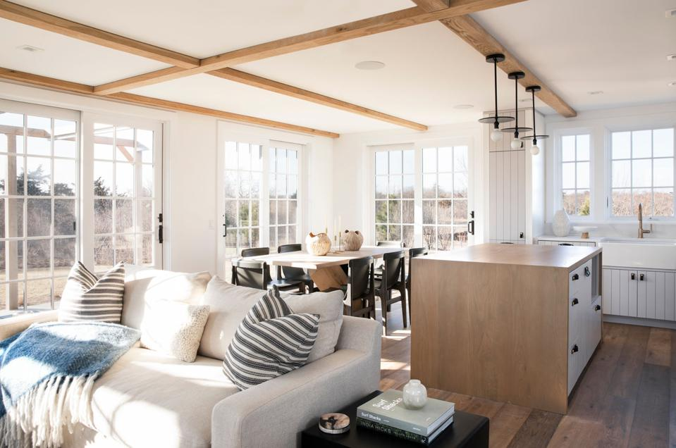 The interior at a Cannonbury Lane home on Nantucket