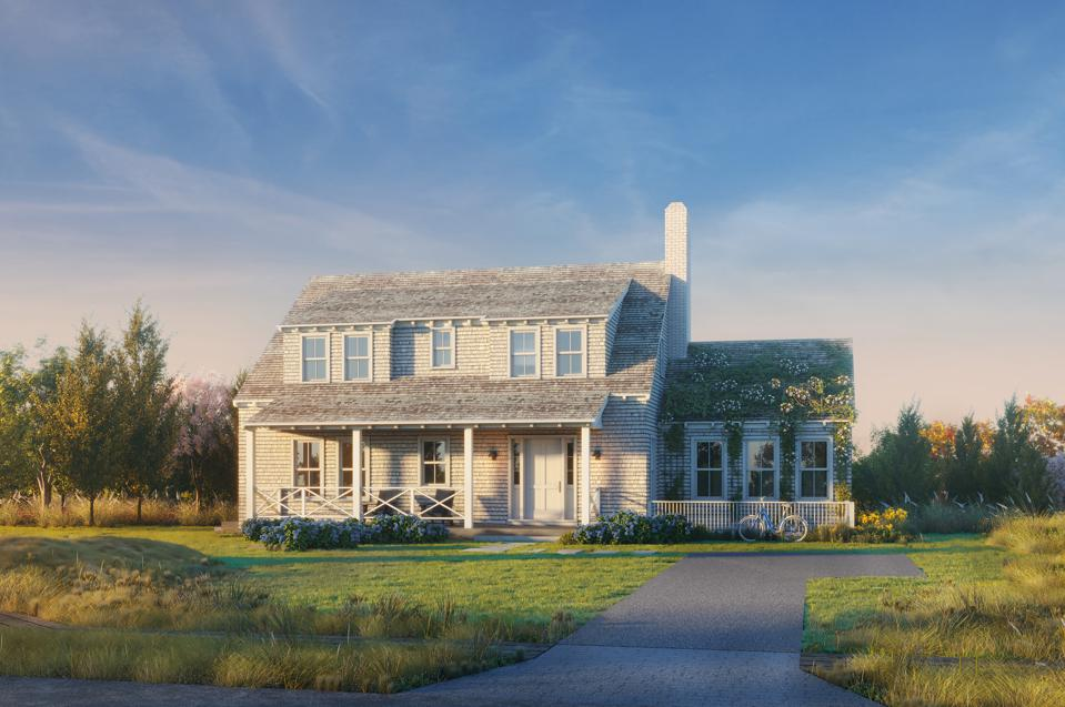 Another rendering of a Cannonbury Lane home on Nantucket