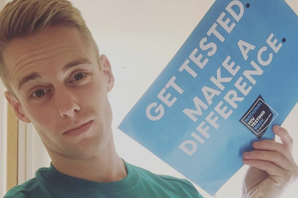 Ethan Spilbey founder of FreedomToDonate takes part in National HIV Testing Week as he spearheads an open letter with senior conservatives who back lifting UK gay blood ban