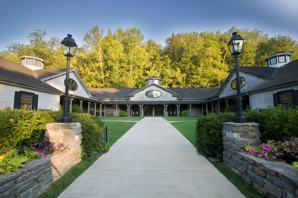 The Jack Daniel's visitors center in Lynchburg, Tennessee