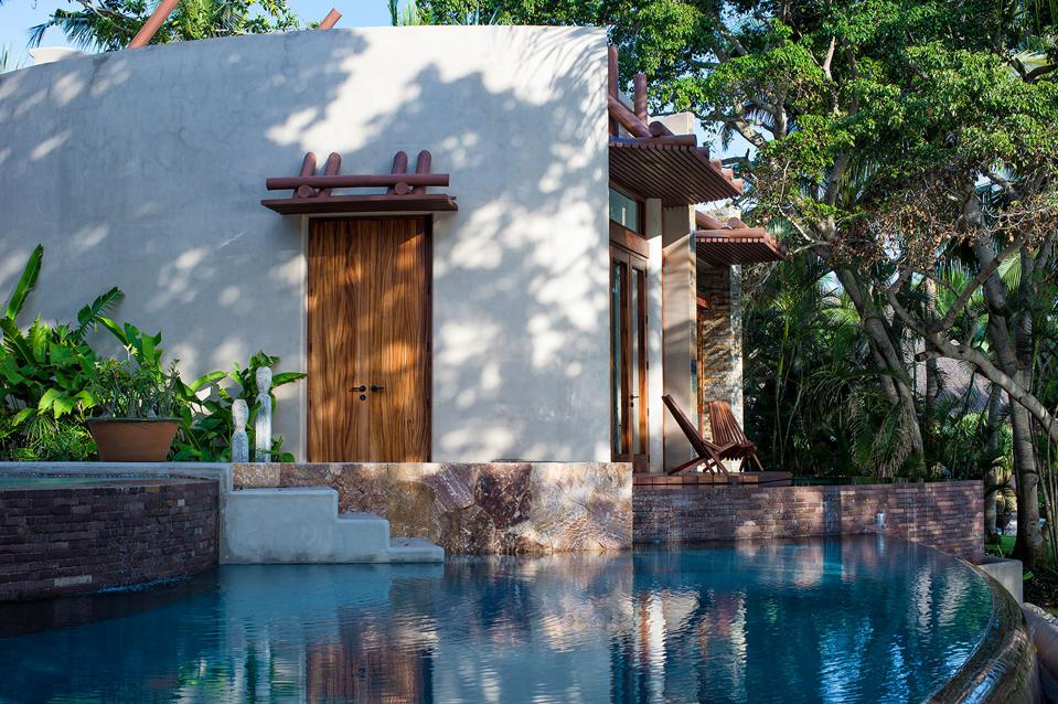 A private plunge pool at Casa Tau in Mexico
