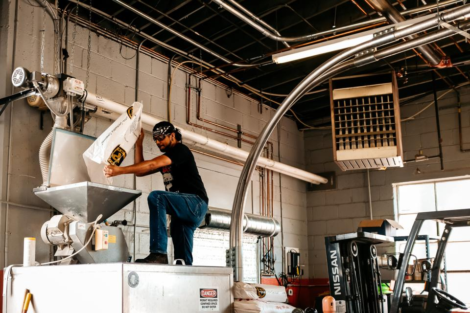 The production team at WeldWerks Brewing in Greeley, Colorado, works hard to create the brewery's innovative beers.