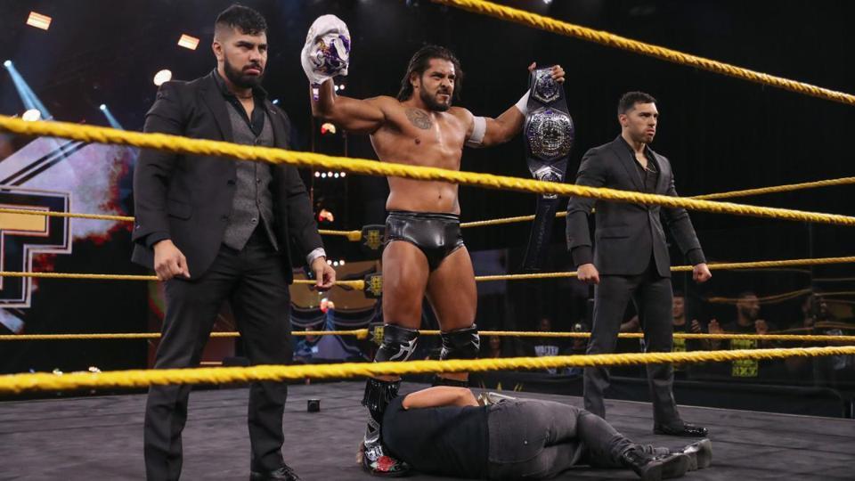 El Hijo del Fantasma has been renamed Santos Escobar after a heel turn on WWE NXT.