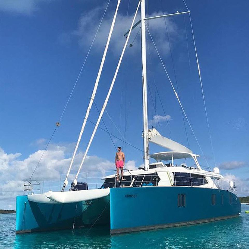 Rafael Nadal aboard Sunreef Catamaran