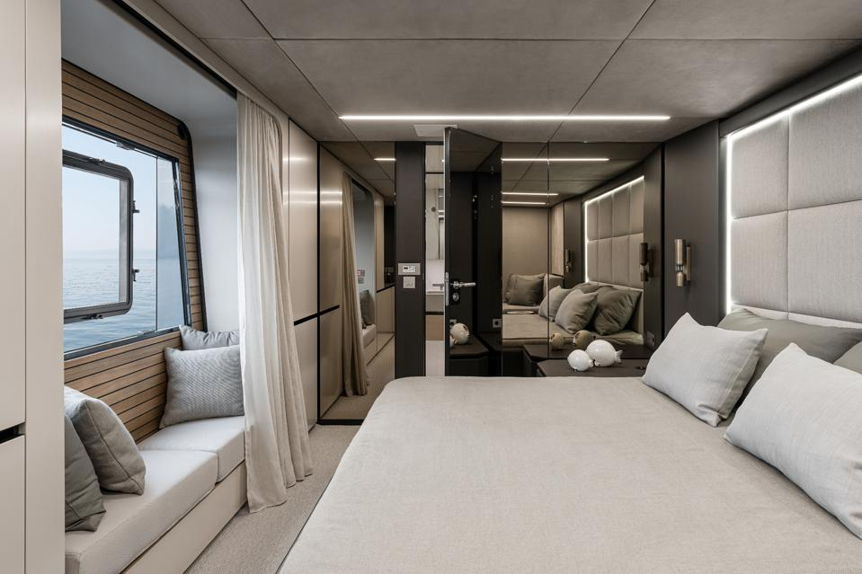 Guest suite on Nadal's catamaran