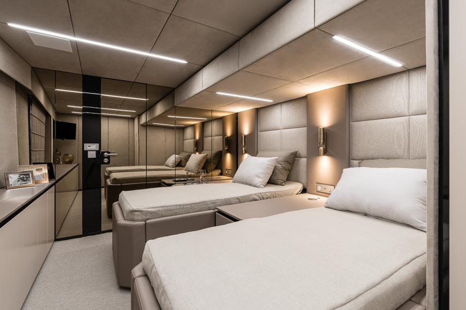 Guest suite on Rafael Nadal's new catamaran