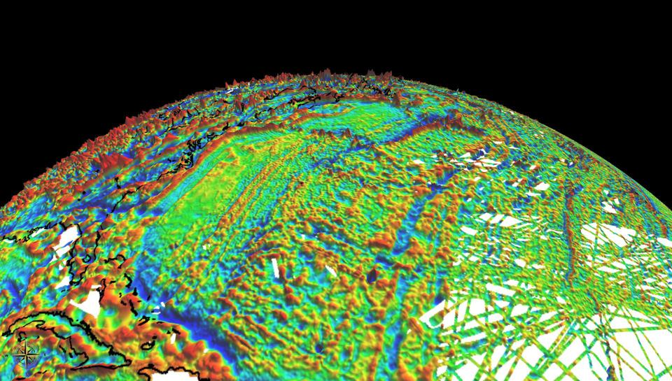 NOAA's EMAG3 World digital Magnetic Anomaly Map.