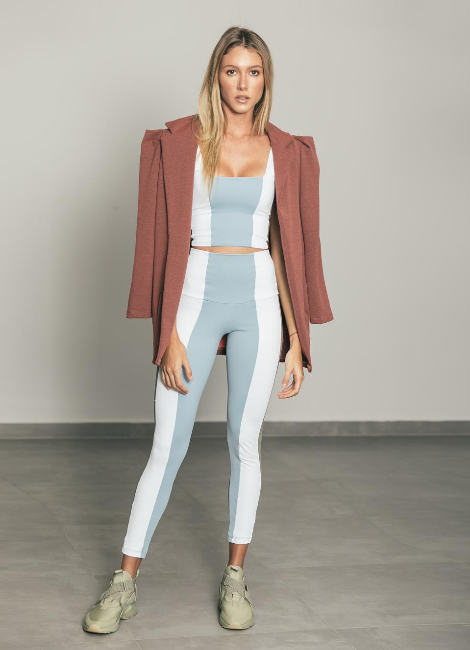 Shay Jacket with Stripe Top and Legging by PORT DE BRAS