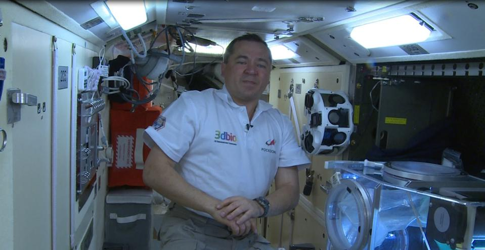An astronaut on the International Space Station