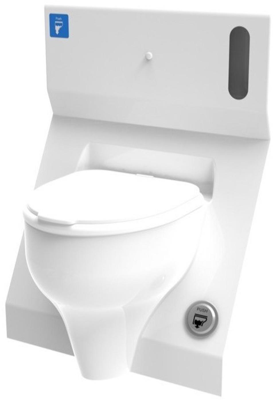Toilet with flush button