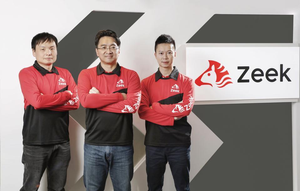 Zeek cofounders (from left) Cliff Tse, KK Chiu and Vincent Fan.