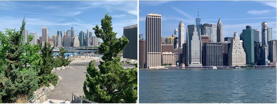 Beautiful Manhattan views from Brooklyn Bridge Park