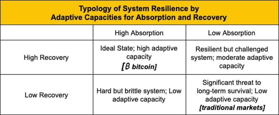 System resilience matrix.