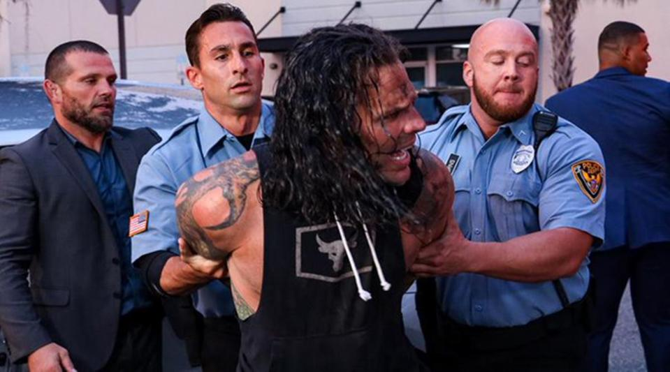 WWE continues to exploit Jeff Hardy's past substance issues and arrests on SmackDown.