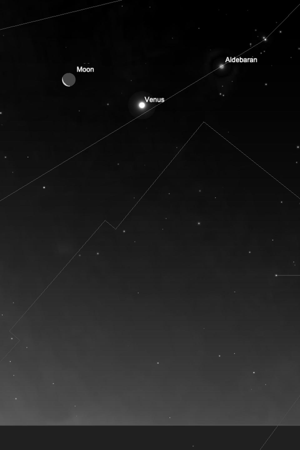Friday, July 17, 2020: the Moon and Venus in conjunction.