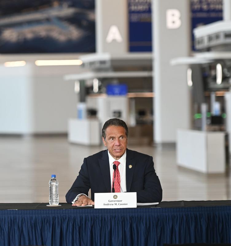 Governor Cuomo at LaGuardia this week, New York