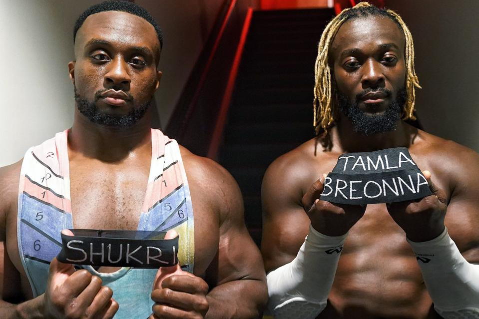 The New Day wore armbands in tribute to slain victims of racial injustice.