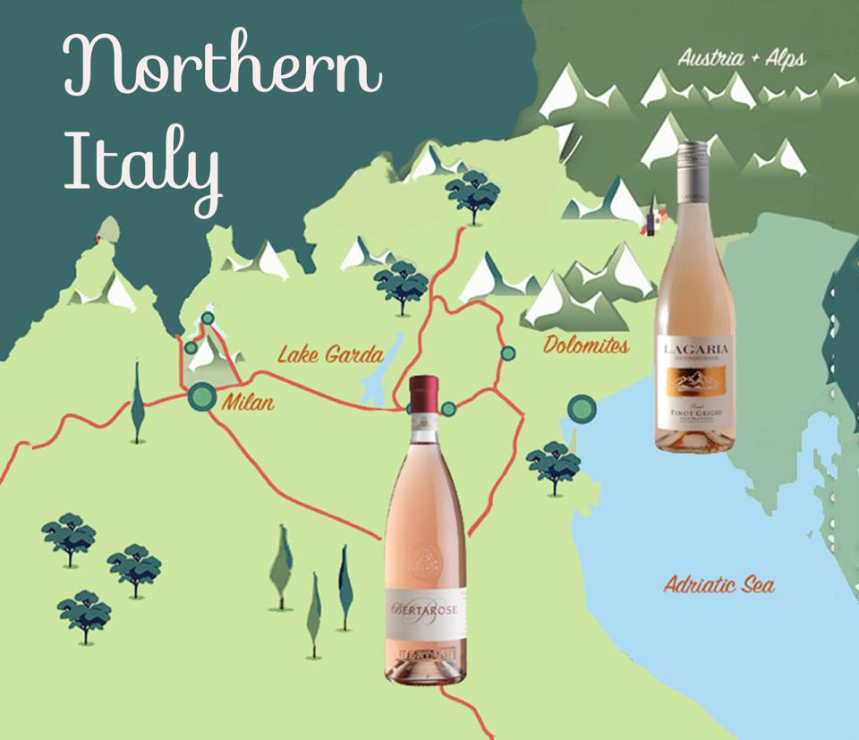 Italy's northern climes are in the rose game.