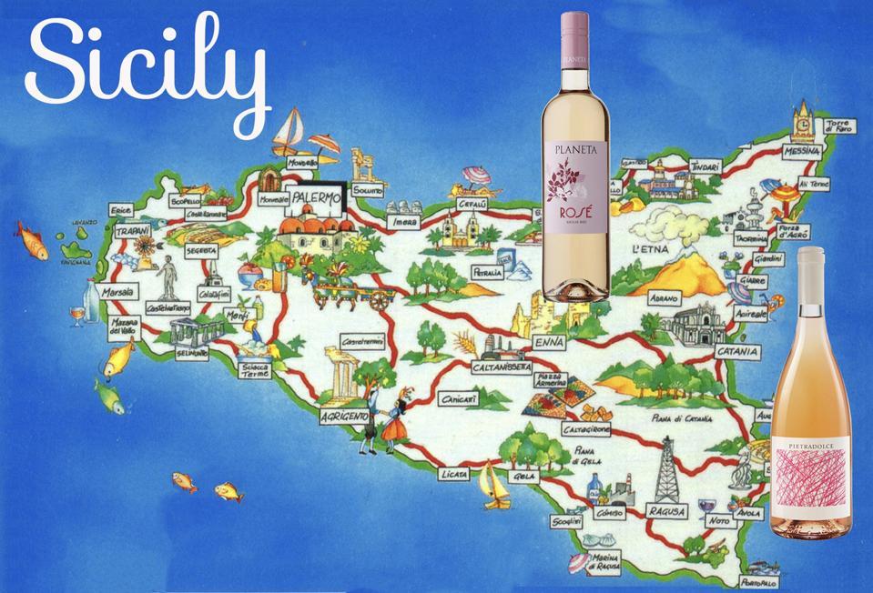Sicilian rosés reflect volcanic soils and sea influences.