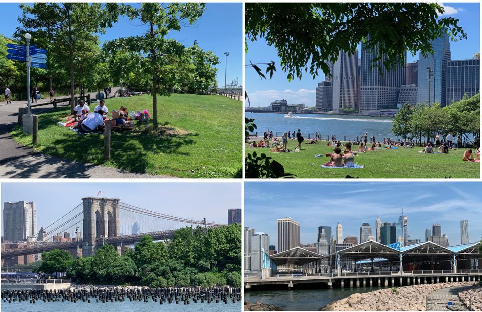 Picnics, views and basketball courts at Brooklyn Bridge Park