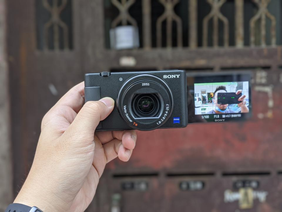 The Sony ZV-1 camera that's supposed to be made for vlogging.