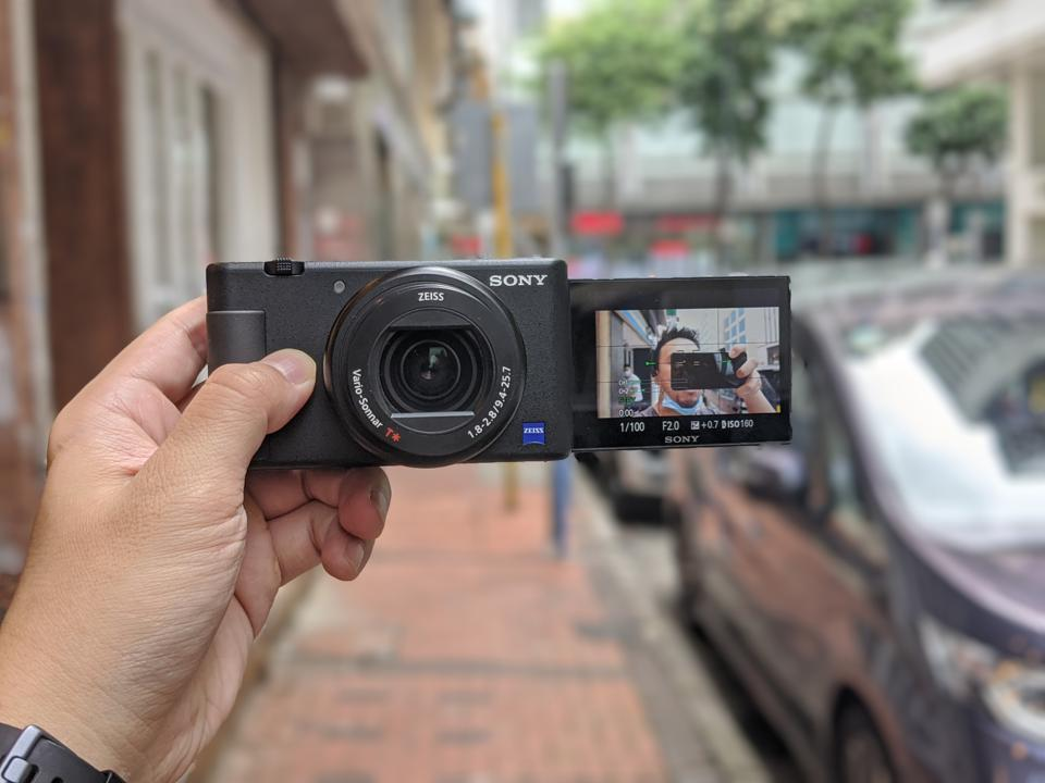 The Sony ZV-1, which Sony is marketing as a camera made for vlogging.
