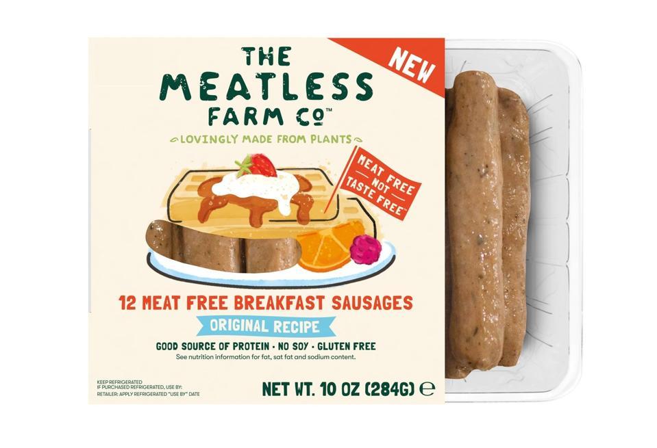 Meatless Farm Breakfast Sausage Links plant-based vegan meea-free