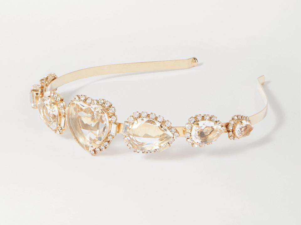 Gold-tone and crystal headband by ROSANTICA
