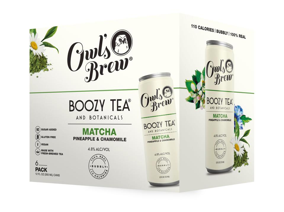Owl's Brew Boozy Tea Matcha