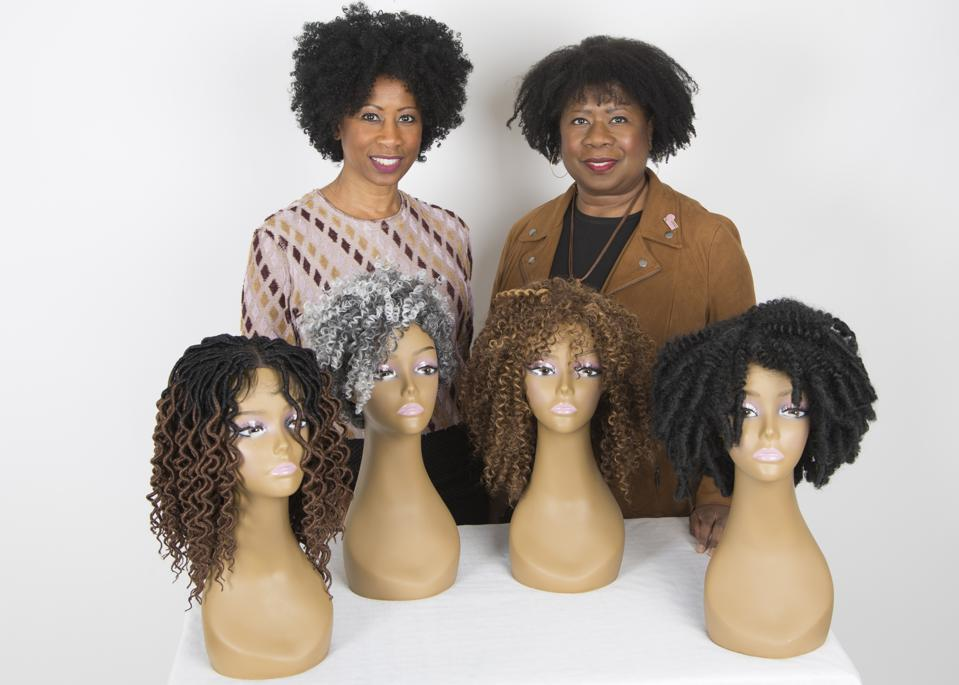 Dianne Austin and Pamela Shaddock,  Co-Founders of Coils to Locs with their Curly and Kinky Hair Wig Designs
