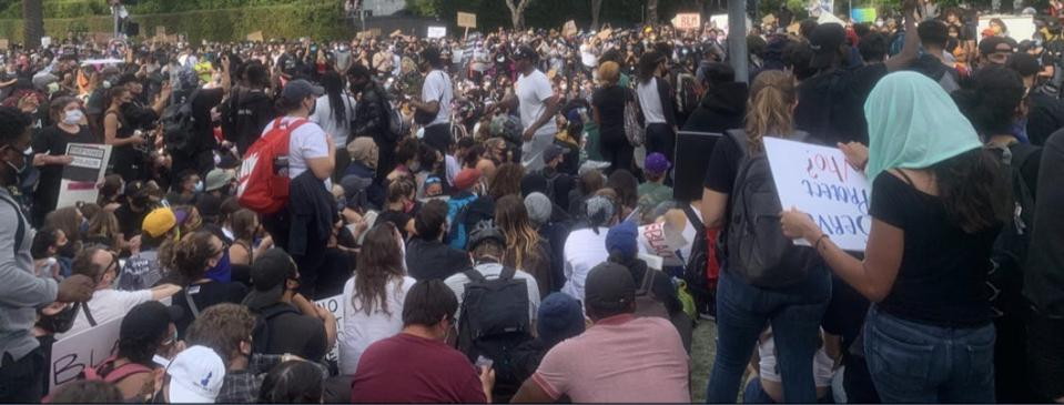 A Black Lives Matter protest in Los Angeles on June 2nd.