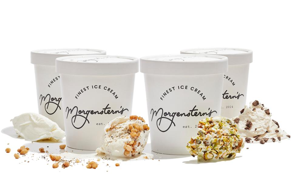 Morgenstern's Ice Cream – raw milk, salt and pepper pine nut, green tea pistachio and mint chocolate chip