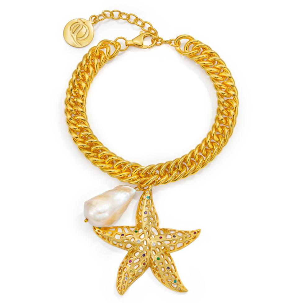 A Starfish charm bracelet from the Wanderlust collection of ARTISANS OF Q