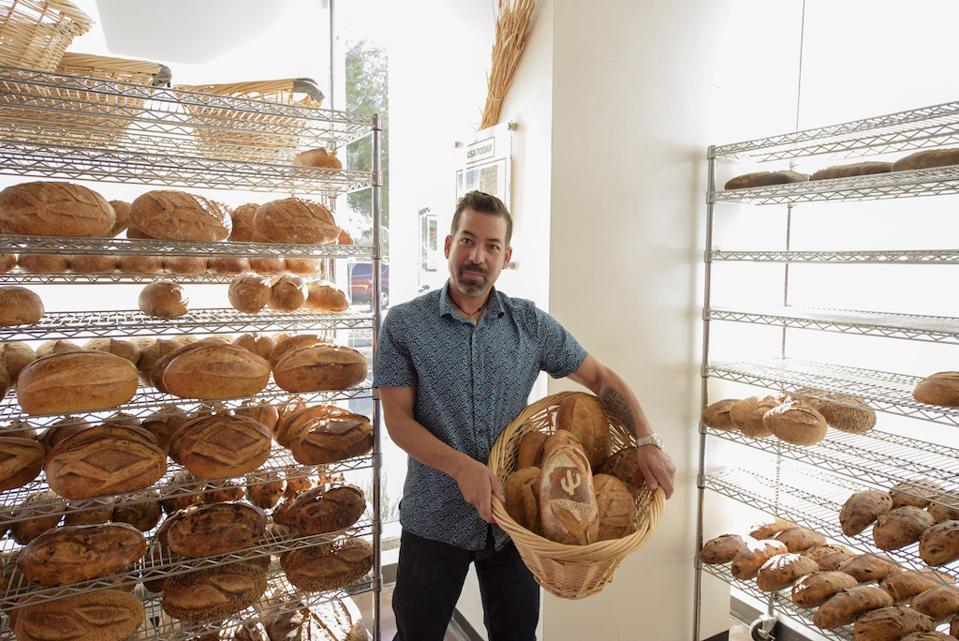 Don Guerra of Barrio Bread's artisan bread class.
