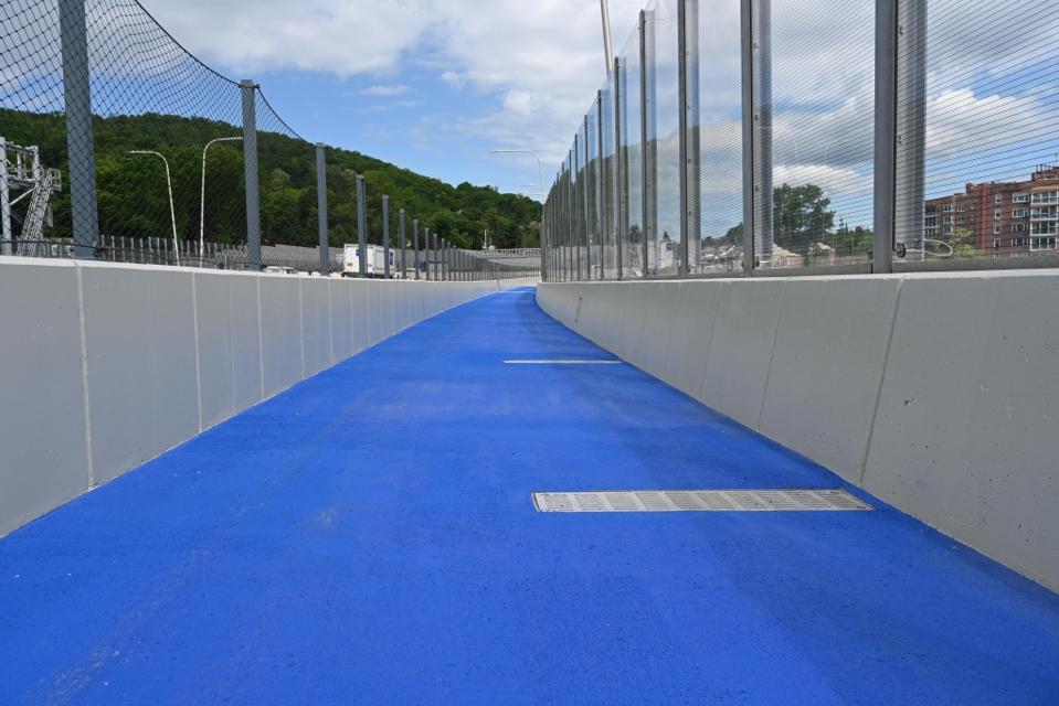 The shared path across the Mario M. Cuomo Bridge