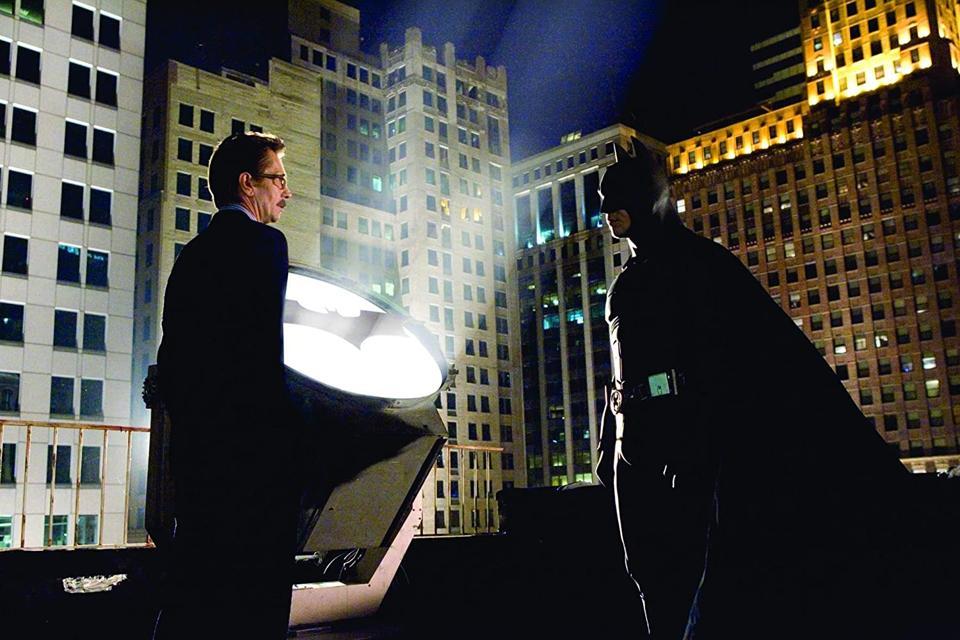 Gary Oldman and Christian Bale in Chris Nolan's 'Batman Begins'